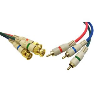 BNC To 3 RCA Video Component Cable
